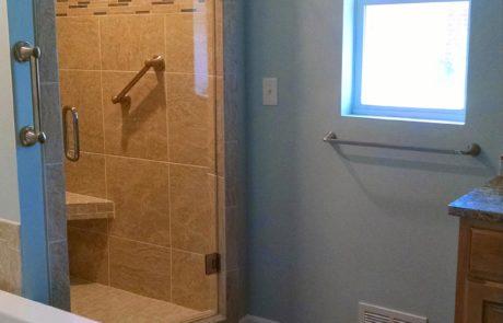 bathroom door remodel
