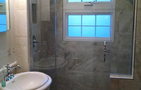 Tub turned to shower remodel