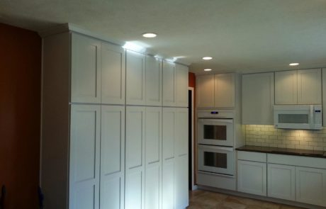Custom lights and cupboards