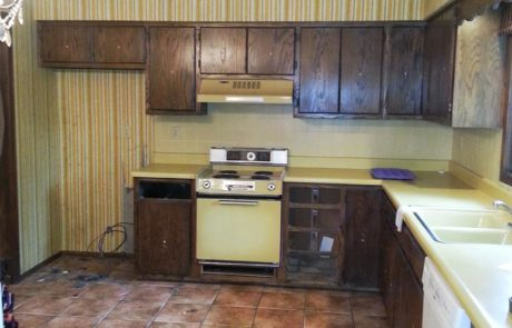 kitchen getting renovated in Lincoln