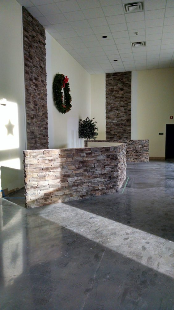 Flooring Stack Stone Welcome Center